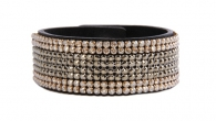 Swarovski Elements Leather Bracelet 8 reihig
