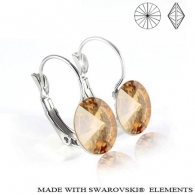 Ohrhaenger, swarovski elements, Golden Shadow, edelstahl, allergenfrei