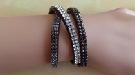 leder wickelarmband swarovski elements