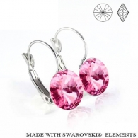 Ohrhaenger, swarovski elements, Light Rose, edelstahl, allergenfrei