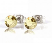 6 mm Ohrstecker mit Swarovski Elements - Golden Shadow
