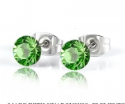 6 mm Ohrstecker mit Swarovski Elements - Peridot