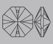Oktagon Kristalle mit 2 Löcher diverse Größen - Grosspackungen